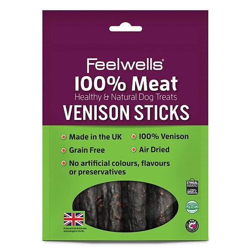 Feelwells 100% Meat Treats Venison Sticks 100g