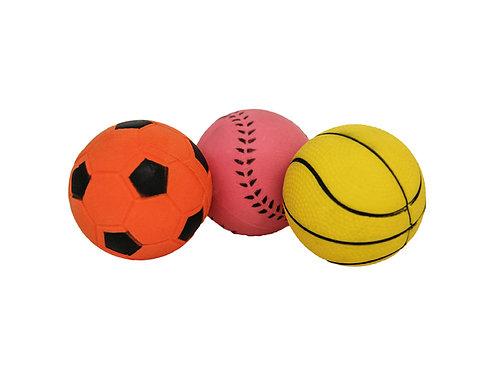 Rosewood Rubber Sports Balls 3pk