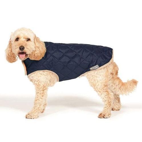 Danish Design Quilted Navy Dog Coat