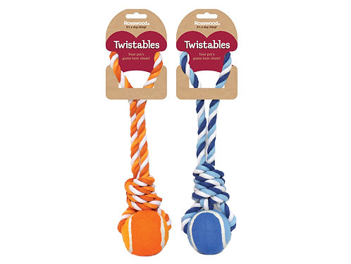 Rosewood Twistables Tennis Ball Tug Toy