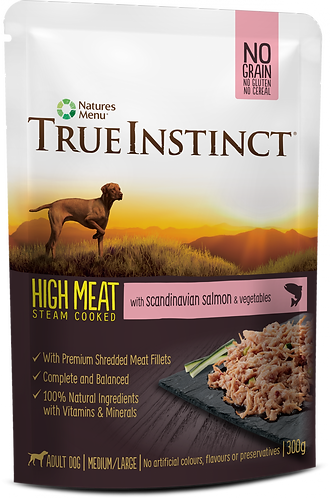 Natures Menu True Instinct Pouch Salmon Fillet Adult Dog 8x300g