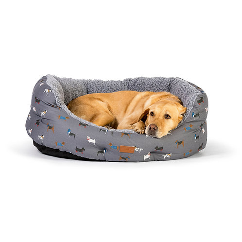 FatFace Marching Dogs Deluxe Slumber Bed 18-Inch