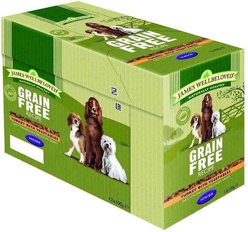 James Wellbeloved Pouches Grain Free Turkey Senior 12 x 100g
