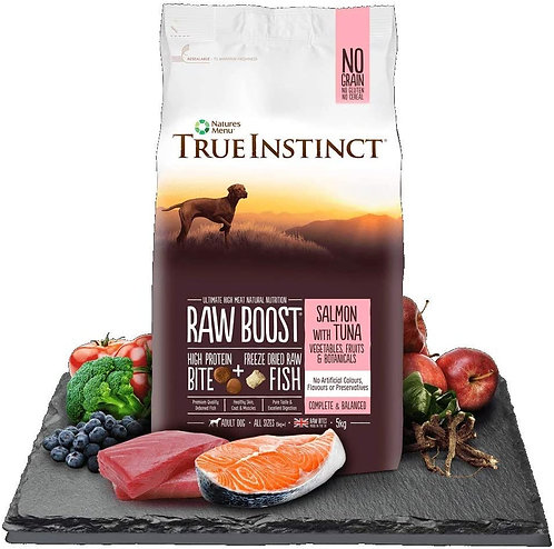 Natures Menu Dog Adult True Instinct Raw Boost Salmon & Tuna 5kg