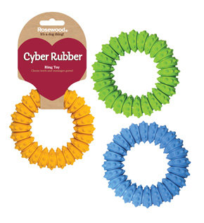 Rosewood Cyber Rubber Ring Toy