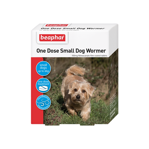Beaphar Wormer One Dose Small Dogs 3 Tabs