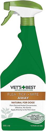 Vet's Best Flea Tick and Mite Flea Treatment Spray for Dogs, 500 ml