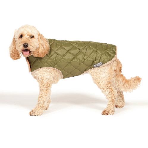 Danish Design Quilted Green Dog Coat