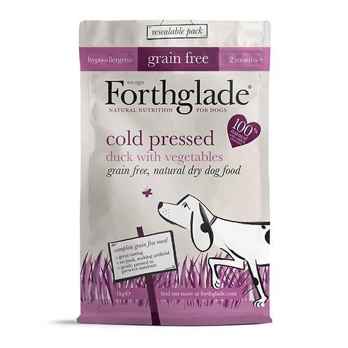 Forthglade Cold Pressed Dry Dog Food Duck Grain Free 1kg