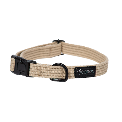 Gor Pets Gor Cotton Dog Collar Large Beige