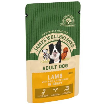 James Wellbeloved Adult Dog Pouch Lamb 10 x 150g