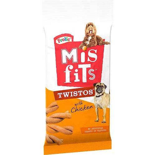 Misfits Twistos Dog Treats with Chicken 105g