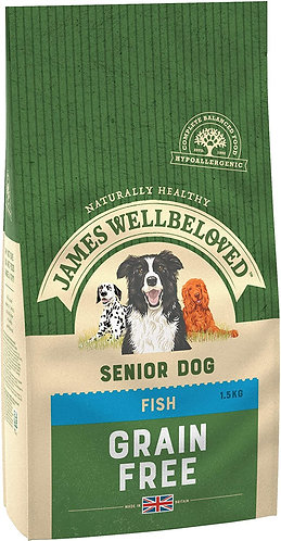 James Wellbeloved Dog Food Fish & Veg Senior Grain Free (1.5kg)