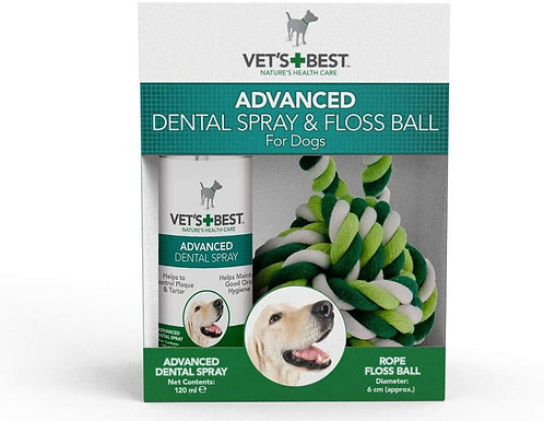 Vet's Best Natural Dental Spray & Floss Ball
