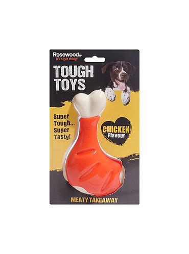 Rosewood Tough Toys Meaty Chicken Takeaway Leg Small
