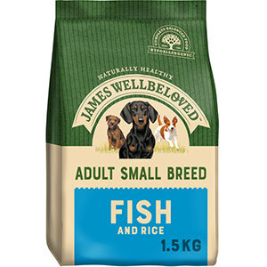 James Wellbeloved Dog Food Ocean White Fish and Rice Small Breed (1.5kg)