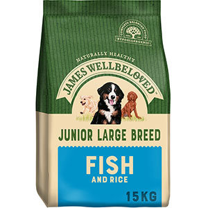 James Wellbeloved Fish and Rice Junior Large Breed (15kg)