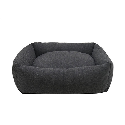 Rosewood Grey Felt with Memory Foam Square Bed - Small
