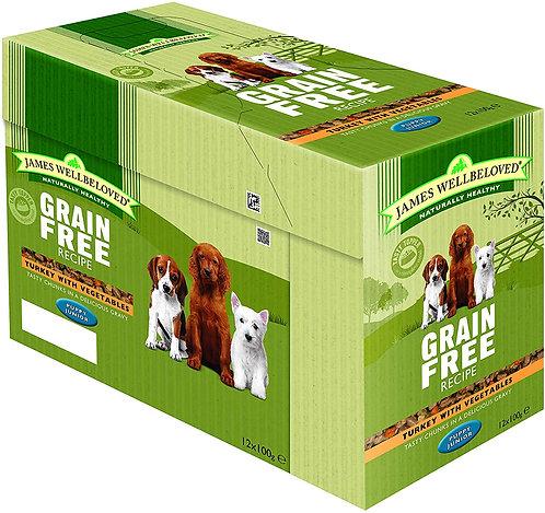 James Wellbeloved Pouches Grain Free Turkey Puppy 12 x 100g