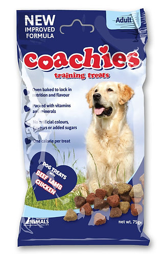 COACHIES Training Treats, 75g Beef, Lamb & Chicken