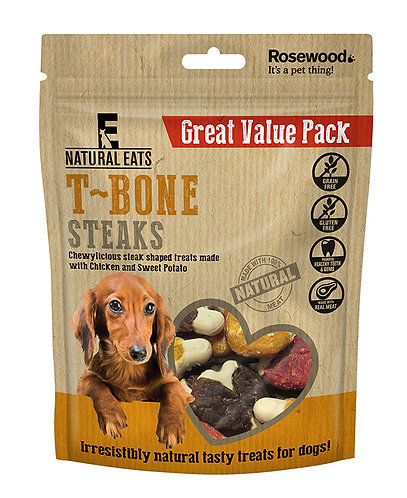 Rosewood Natural Eats T Bone Steaks Value Pack 295g