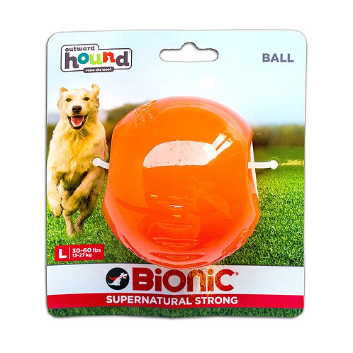 Outward Hound Bionic Tough Rubber Dog Ball Treat Toy Large