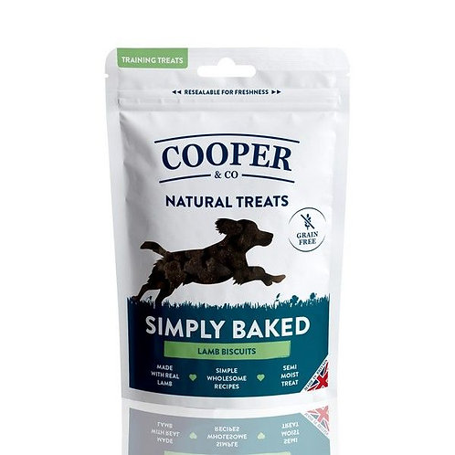 Cooper & Co Grain Free Lamb Biscuits - Training Treats 100g