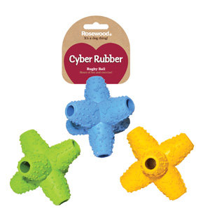 Rosewood Cyber Rubber Luna Jack Treat Toy