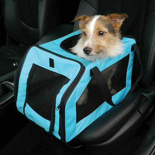 Rosewood Options Pet Car Seat Carrier, Medium, Aqua