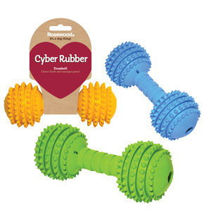 Rosewood Cyber Rubber Dumbell - Medium
