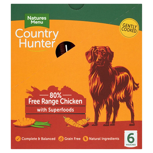 Natures Menu Country Hunter Dog Pouch Chicken (6x150g)