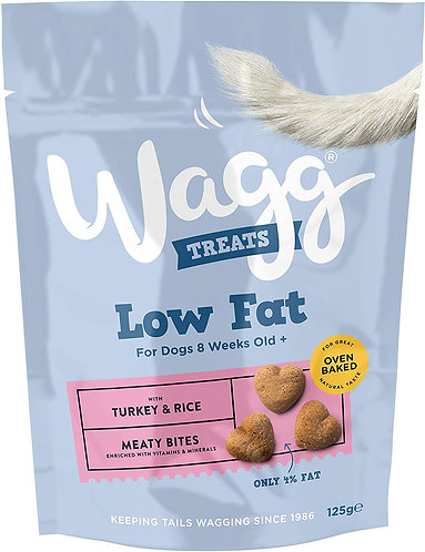 Wagg Low Fat Turkey Treats 125g
