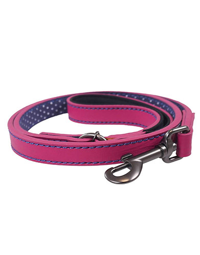 Joules Leather Pink Dog Lead