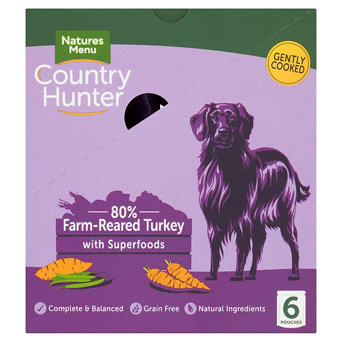 Natures Menu Country Hunter Dog Pouch Turkey (6x150g)