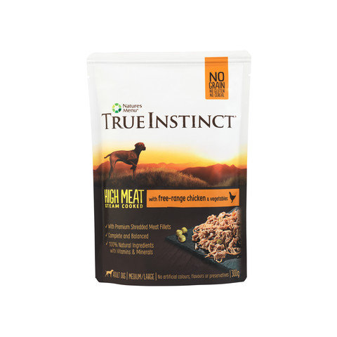 Natures Menu True Instinct Pouch Chicken Fillet Adult Dog 8x300g