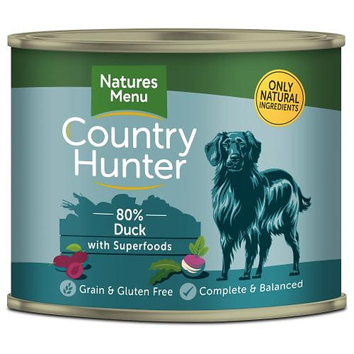 Natures Menu Country Hunter Duck with Plum Adult Dog Food 600g
