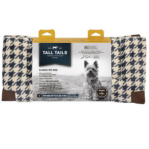 Tall Tails Fleece Top Houndstooth Pet Bed Large
