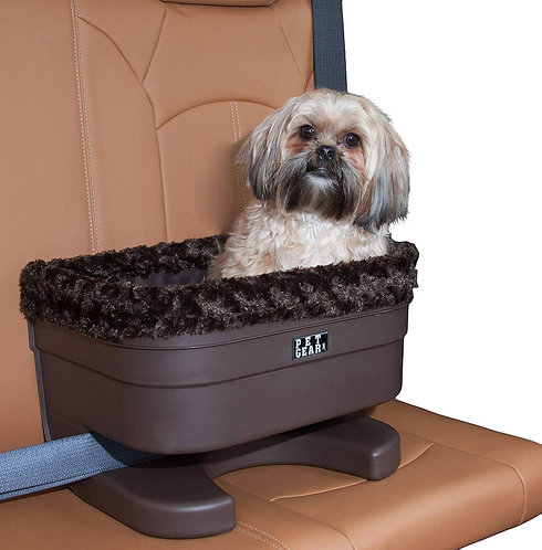 Pet Gear Plush Car Seat Booster for Dog Travel