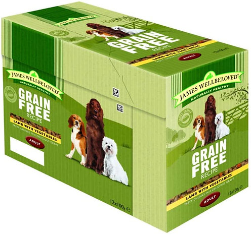 James Wellbeloved Pouches Grain Free Lamb Adult 12 x 100g
