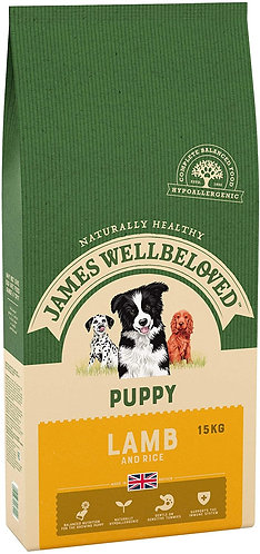 James Wellbeloved Lamb and Rice Puppy 15kg