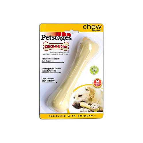 Petstages Chick-a-Bone Chicken Flavoured Dog Chew Toy, Medium