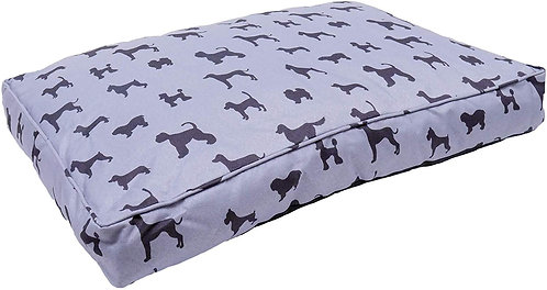 Rosewood Padded Dogs Print Grey Luxury Mattress - Medium