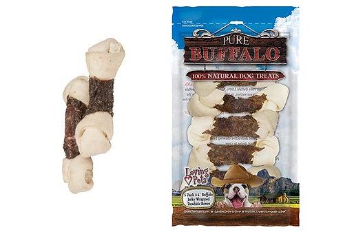 Loving Pets Pure Buffalo Jerky Wrapped Rawhide Bone