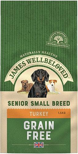 James Wellbeloved Dog Food Turkey & Veg Senior Small Breed Grain Free 1.5kg