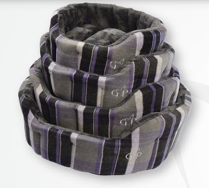 Gor Pets Camden Deluxe Bed - Purple Check