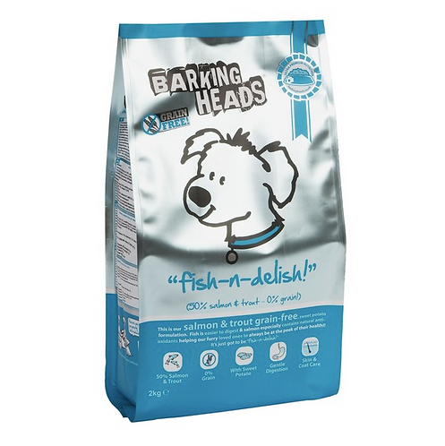 Barking Heads Dog Adult Fish N Delish Grain Free 2kg