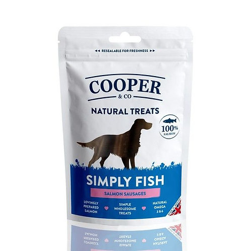 Cooper & Co Salmon Sausages 100g