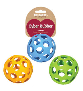 Rosewood Cyber Rubber Lattice Football