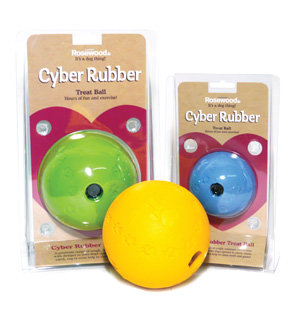 Rosewood Cyber Rubber Treat Ball - Large