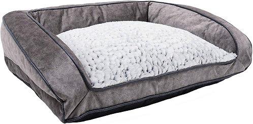 Rosewood Luxury Grey Plush Dog Sofa - Large
